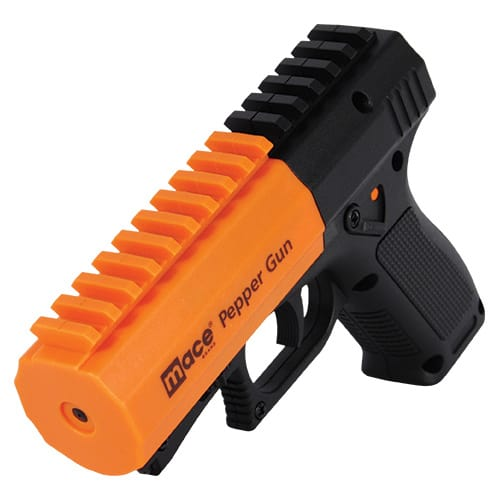 Mace® Brand Pepper Gun® 2.0 Distance Defense Point-And-Shoot Accuracy Dual Mode LEDMace® Brand Pepper Gun® 2.0 Distance Defense Point-And-Shoot Accuracy Dual Mode LED Callahans Safety Technology