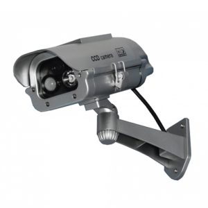 Solar Dummy Cam Motion-Activated Strobe within 15 Feet.